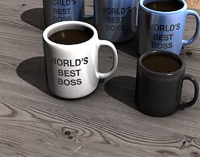 3D asset coffee mug 01