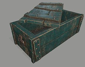 3D asset VR / AR ready old chest
