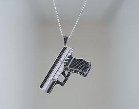 3D print model GUN Pendant
