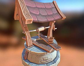 3D asset Fantasy RPG Stone Well