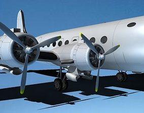 Douglas DC-4 Bare Metal 3D model