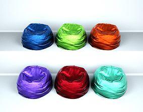 3D asset Bean Bag Chair - Different colors