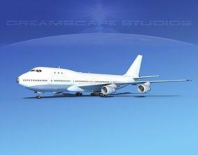 Boeing 747-100 Unmarked 3D model