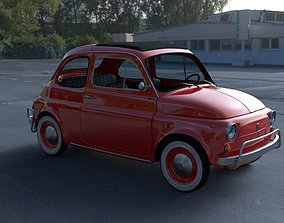 3D Fiat 500L Luxe 1968 with interior HDRI