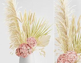 palm 3D model Dried plants bouquet