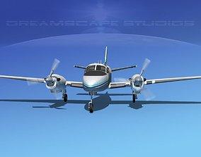 Beechcraft King Air C90 V07 3D model