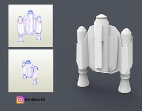 The Mandalorian 2019 Jetpack Pepakura 3D printable model