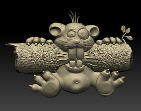 3D printable model decoration squirrel