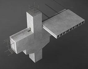 Construction detail 01 beam column 3D model