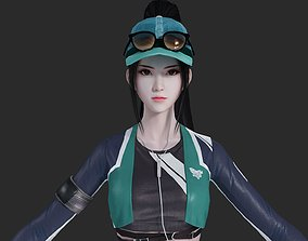 Asian modern style beautiful girl pretty younger 3D model