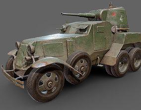 BA-10 armored car 3D asset