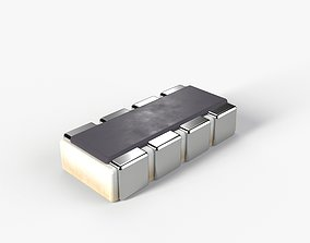 3D asset PBR SMD type Resistor model with 2K textures