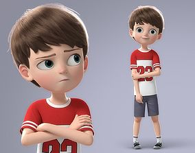 Cartoon Boy Rigged kid 3D