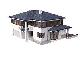 3D Villa 02 House Cottage