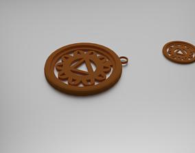 Manipura Solar Plexus Chakra Pendant 3D printable model