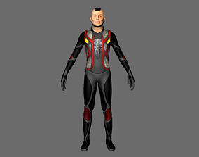 3D model Character army sci fi rigged