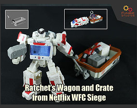 3D printable model Ratchet Wagon and Crate from Netflix 1