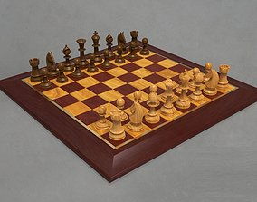 Chess Board and Pieces 3D print model