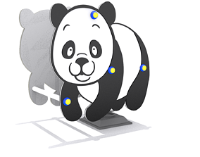 3D model Playground - Panda Rider