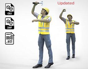 N4 Construction Worker 1 64 Miniature 3D print model 2