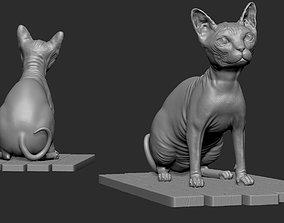 Sphynx cat 3d model for 3d printing