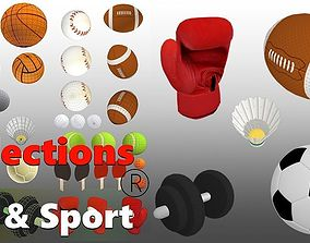 3D asset Collections Ball-Sport