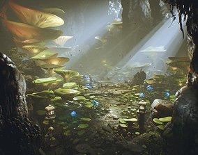UE4 - Deep Elder Caves 3D model