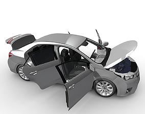 Toyota Corolla with interiar 3D model