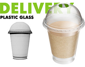 3D Delivery Plastic Glass Big