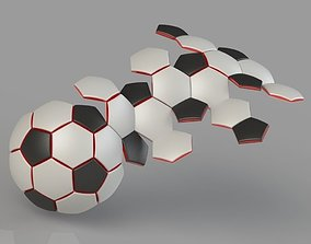 3D printable model Soccer Ball 32 Panel Construction