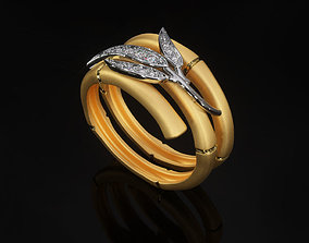3D printable model Bamboo Ring R BR 0001