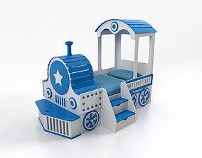 3D model Bed for children Locomotive