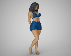 3D printable model Woman with her Hands Behind