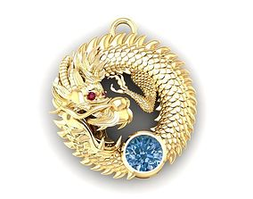 567 Lucky Dragon Pendant 3D printable model