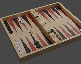3D asset Backgammon and Dama Game
