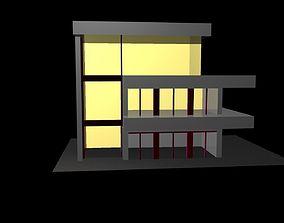 House 3D asset low-poly car