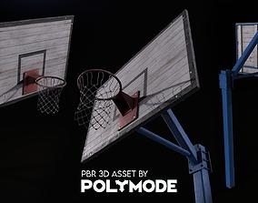 3D model Basketball Hoop Game-ready