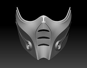 Sub Zero mask for cosplay Mortal Kombat 3D print model 2