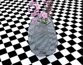 Vase Martina Gray Matte Glass 3D model