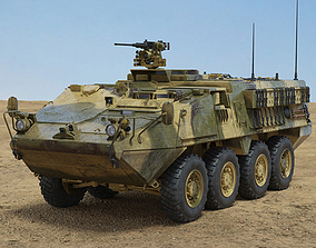 3D M1126 Stryker ICV with HQ interior