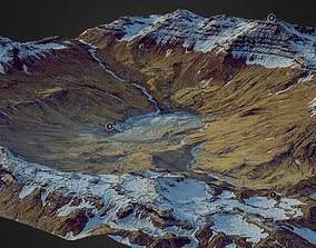 Frozen Mountains - World Machine 3D model