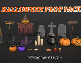 3D model VR / AR ready Halloween Prop Pack