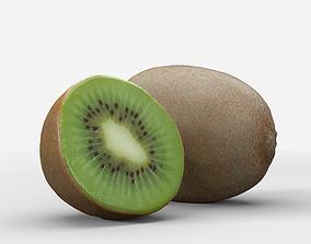 Green Kiwi Fruit 3D model photoscan kiwi game-ready