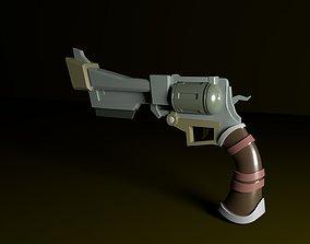 Lowpoly Gun 3D asset