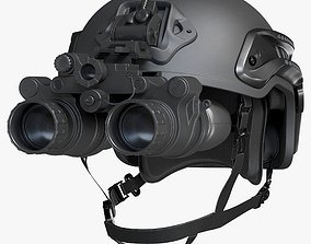 Helmet With Night Vision Goggles 3D model