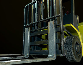 3D asset Game-Ready Liftruck with pallet