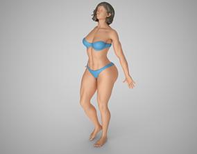 girl Lean Against Glass 2 3D print model