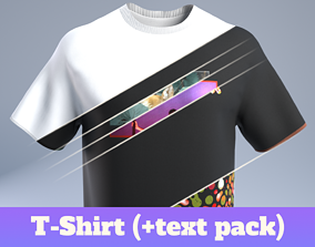 T-Shirt 3D model low-poly fold
