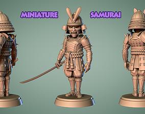 Samurai Miniature 2 -Mini Troop -3D print model