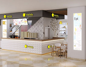 3D model Bubble tea shopping mall